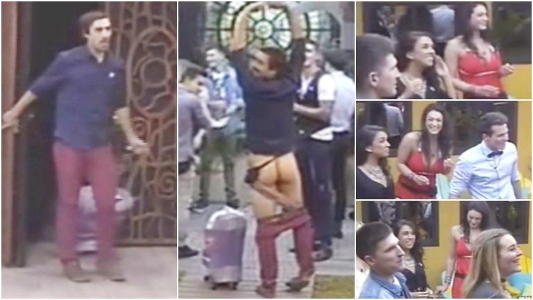 El participante que ingresó a la casa de Gran Hermano 2016 y se desnudó en vivo