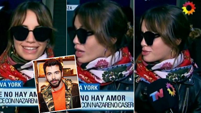 Lali hizo un show de caras cuando le preguntaron por su encuentro con Nazareno Casero en Nueva York: