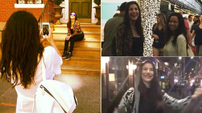 La divertida estadía de Julieta Ortega y Andrea Rincón en Nueva York: paseos y bailecitos sexies en la calle