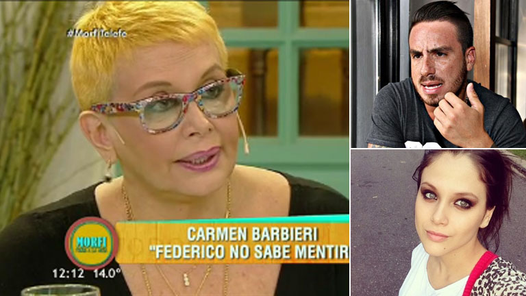 Carmen Barbieri reveló la fortísima frase que le dijo Fede Bal tras una pelea con Barbie Vélez