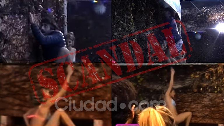 ¡Descontrol total en GH! Dante y Marian treparon el muro y se escaparon de la casa: mirá el video del escándalo