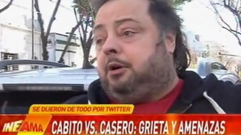 La palabra de Cabito tras su fuerte cruce con Alfredo Casero en Twitter: