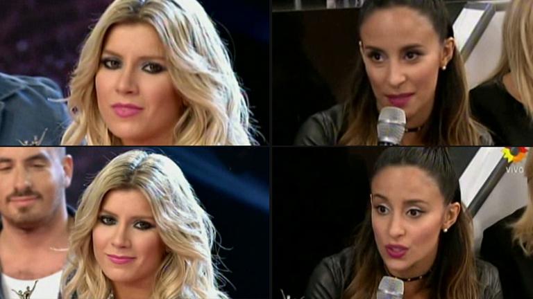 Lourdes Sánchez y un tenso cruce con Laurita Fernández en el Bailando: