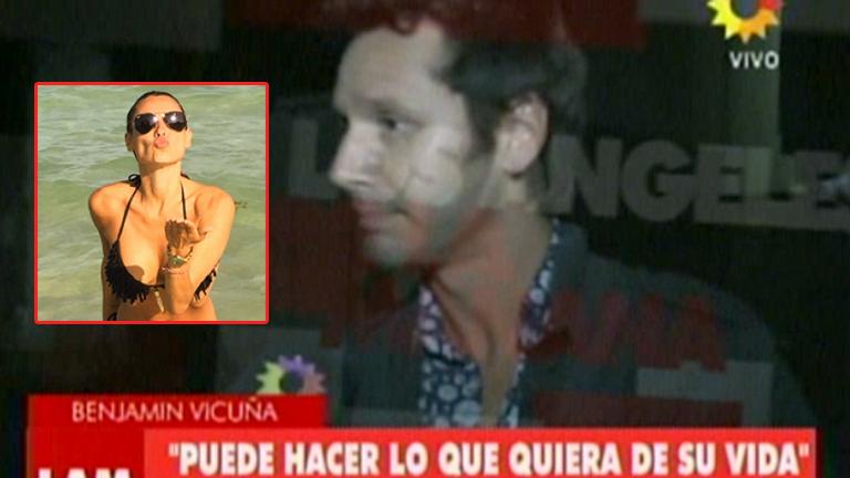 Benjamín Vicuña habló del sorpresivo viaje de Pampita a Miami: