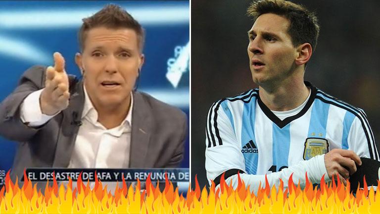 Alejandro Fantino, furioso con la Selección Argentina