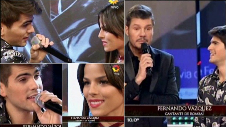 Fer Vázquez de Rombai cantó en ShowMatch