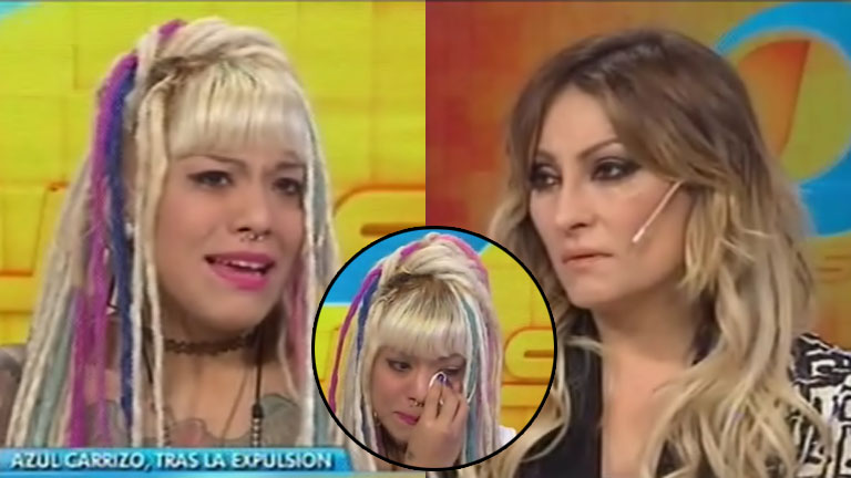 Azul conmovió a Marcela Tauro en Intrusos