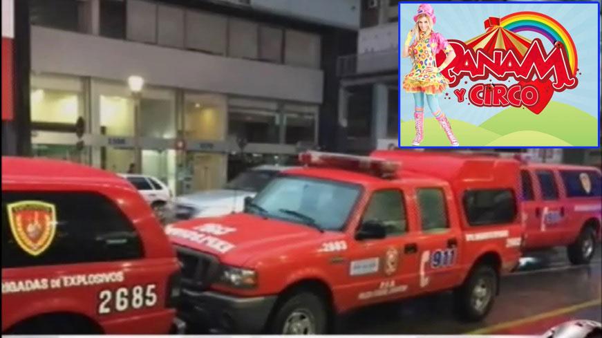 Amenazaron de bomba en pleno show de Panam