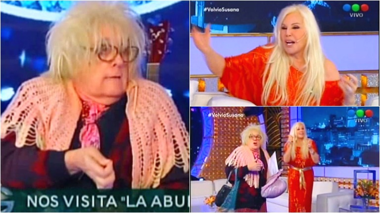 La Abuela de Gasalla divirtió en la vuelta de Susana a la TV