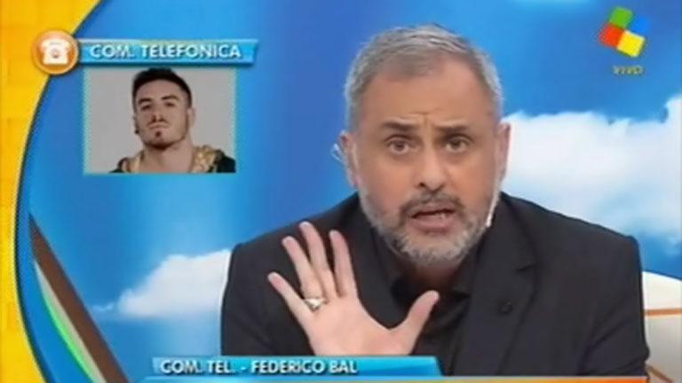 La pelea en vivo de Jorge Rial y Federico Bal
