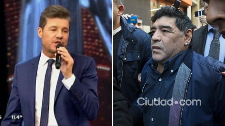 Marcelo Tinelli y una frase irónica ¿para Maradona?:
