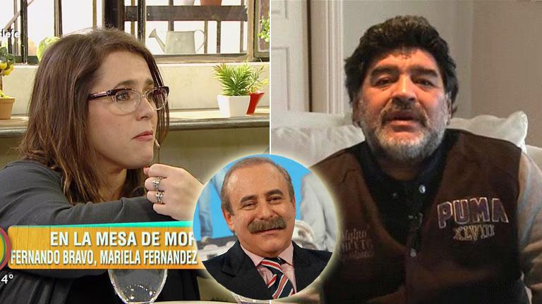 Malena Guinzburg y una emotiva anécdota con Maradona en el funeral de su padre