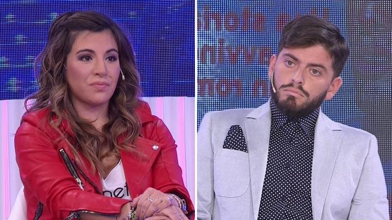 El video del tenso cruce de Gianinna Maradona con Diego Junior en vivo