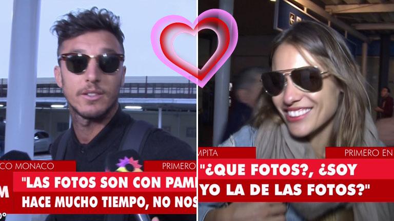 ¡Pero qué coincidencia! Pampita y Pico Mónaco llegaron a Argentina en el mismo vuelo: sus llamativas declaraciones