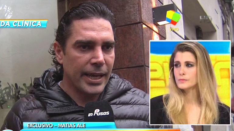 Matías Alé recibió el alta y habló del embarazo de Florencia Maggi