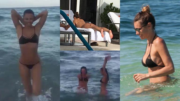 Pampita se divierte en Miami: lomazo y juegos en el mar