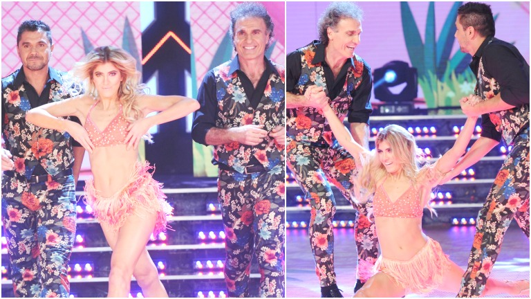 Candela y Oscar Ruggeri la rompieron en la salsa de tres de ShowMatch