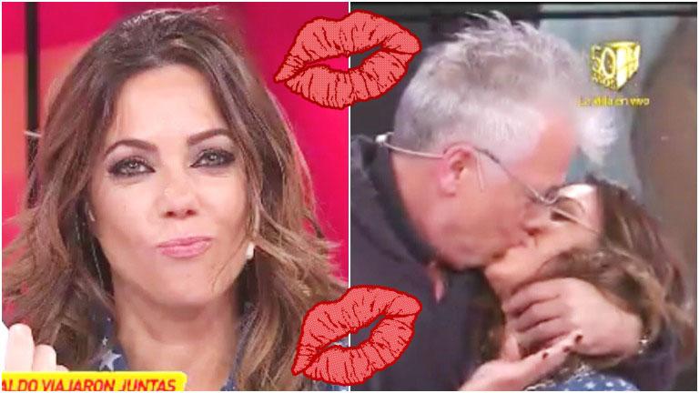 El tremendo beso de Gerardo Romano a Pía Shaw en Infama