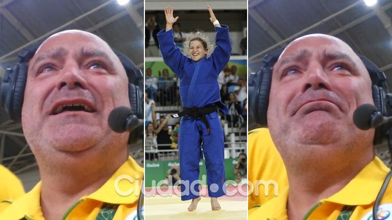 Mirá la emoción de la voz del estadio al anunciar el Oro de Paula Pareto: la historia detrás de su llanto