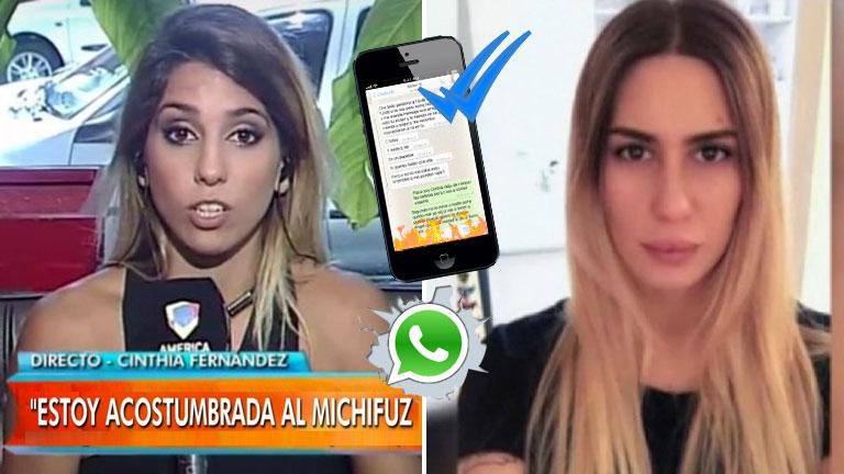 Cinthia Fernández habló de los mensajes hot que recibió Defederico y reveló la identidad de la mujer
