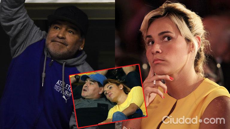 Diego Maradona y Rocío Oliva, separados