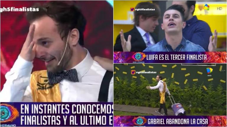 Luifa es finalista de GH 2016: las lágrimas de Gabriel al quedarse fuera de la final