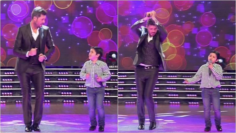 Enoc, el nene que sorprendió cantando en ShowMatch, regresó para rendirle un homenaje a Rodrigo