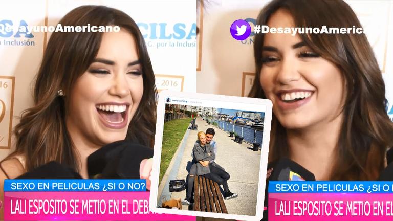 La pícara reacción de Lali tras la foto de Mariano Martínez con ¿su nueva novia?: