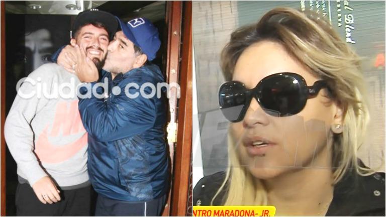 La opinión de Verónica Ojeda tras el reencuentro de Maradona con Diego Junior