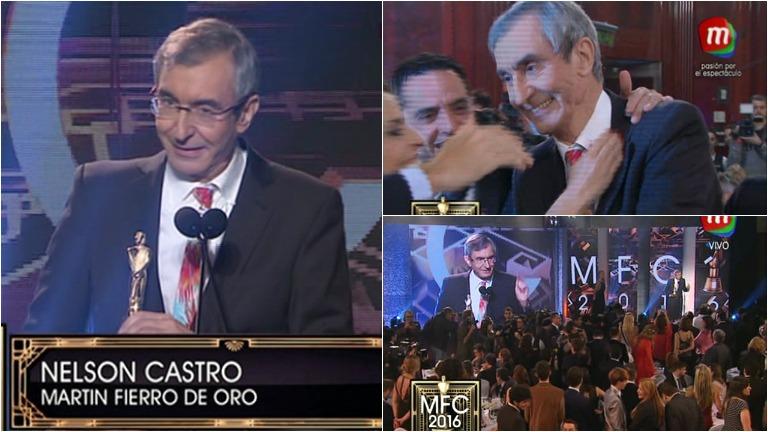 Nelson Castro ganó el Martín Fierro de Oro de Cable 2016: su especial discurso