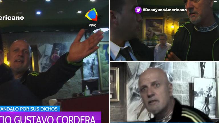 La irritada reacción de Gustavo Cordera cuando quisieron entrevistarlo de Desayuno americano: