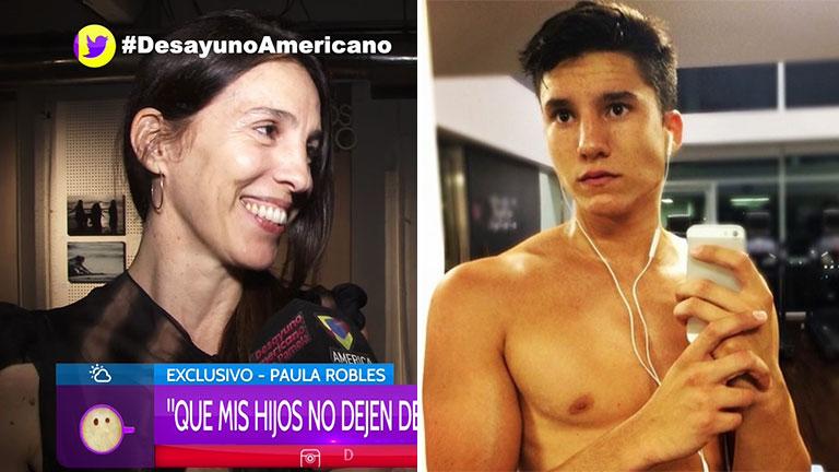 Paula Robles habló de la facha de su hijo varón, Francisco Tinelli