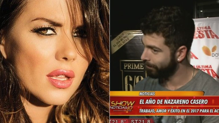Nazareno Casero, muy pícaro sobre los rumores de romance con Karina Jelinek