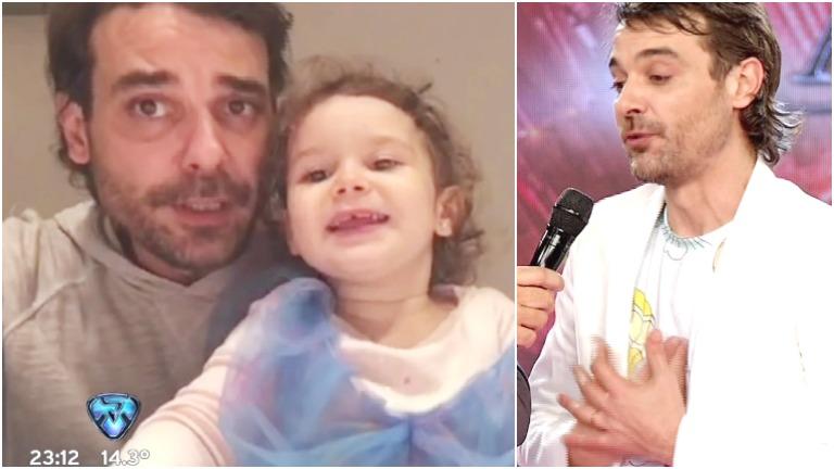 El tierno video de Pedro Alfonso con Olivia cantando una canción para chicos