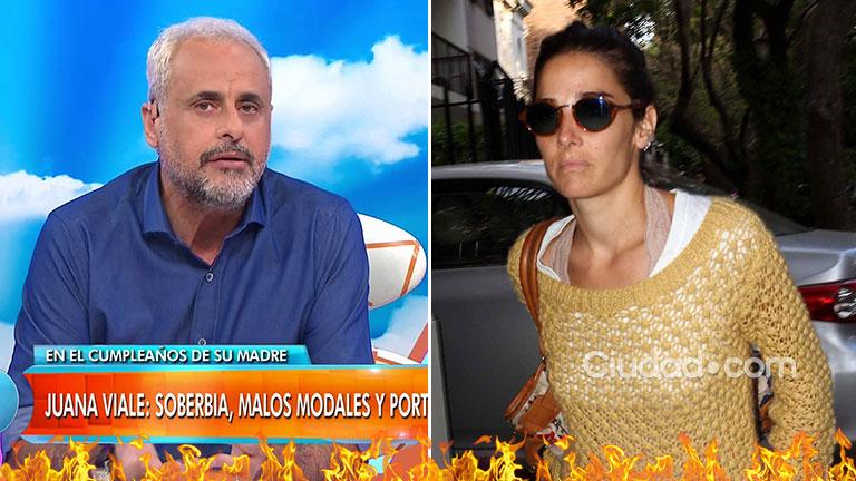 Rial y su feroz crítica, tras el desplante de Juana Viale a los medios:
