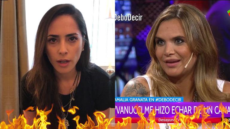 Granata reveló que Vannucci la hizo echar de Implacables: