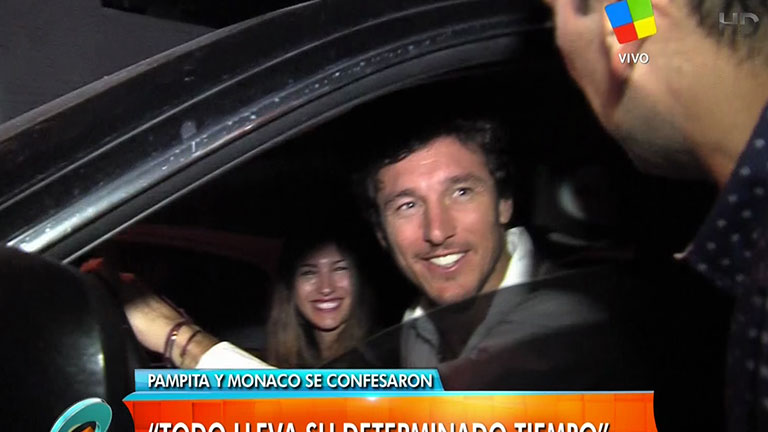 Pampita acompañó a Pico Mónaco al programa de Susana Giménez: su primera nota juntos a la salida