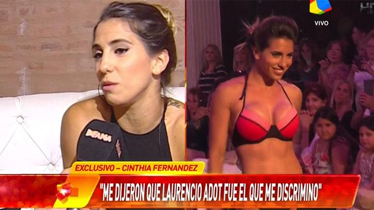 Cinthia Fernández apuntó contra Laurencio Adot tras ser desvinculada de un desfile
