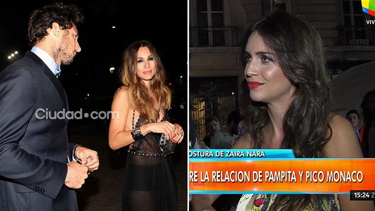 """Zaira Nara habló del romance de su ex Pico Mónaco y Pampita: """"Ojo que no le gusta el medio, pero se enamoró"""""""