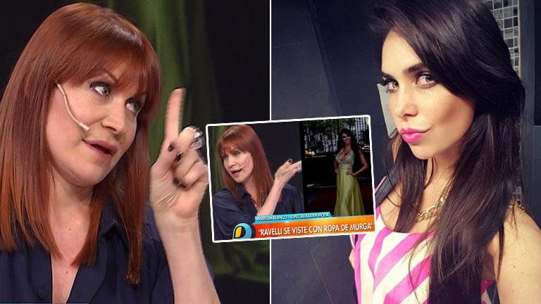 Matilda Blanco criticó con dureza el look de Sabrina Ravelli, y la morocha le respondió: