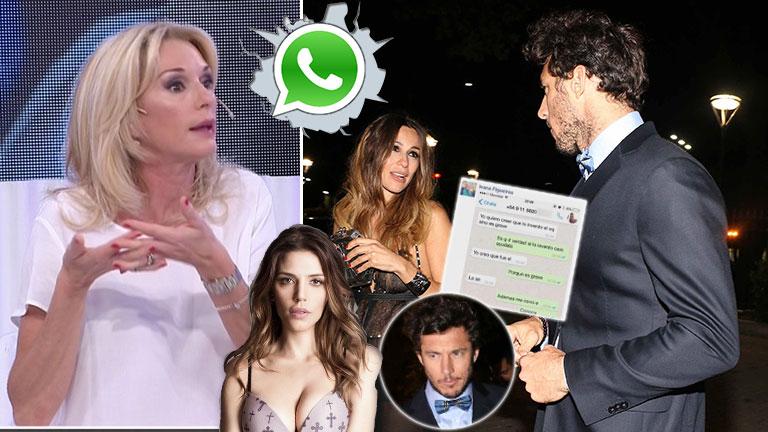 """Yanina Latorre contó que Pico Mónaco trató de """"extremadamente celosa"""" a Pampita ¡y el tenista le escribió por WhatsApp!:"""