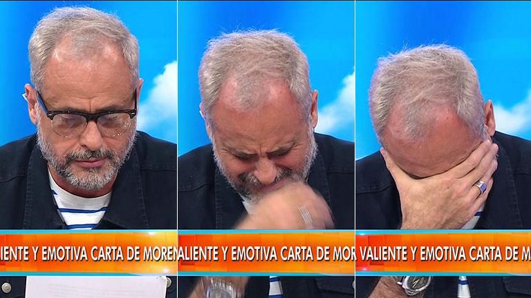 Tras los repudiables tweets de Marcelo Open, Rial le respondió leyendo una carta que escribió Morena y quebró en llanto