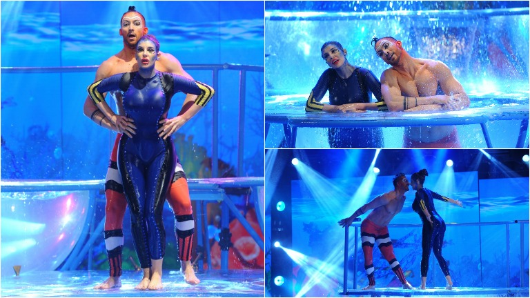 Charlotte Caniggia hizo su Aquadance en ShowMatch inspirado en Buscando a Nemo