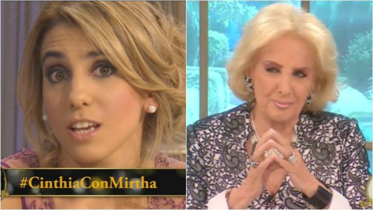 Cinthia Fernández contó en la mesa de Mirtha el insólito blooper que tuvo para llegar a su programa