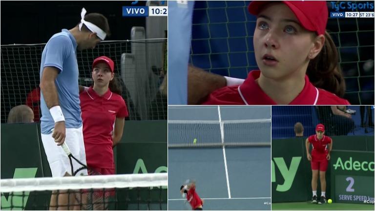 El tremendo pelotazo que recibió una nena en la final de la Copa Davis