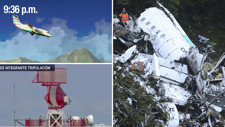 Miembro de cabina que volaba cerca del avión del Chapecoense narra momentos previos al accidente