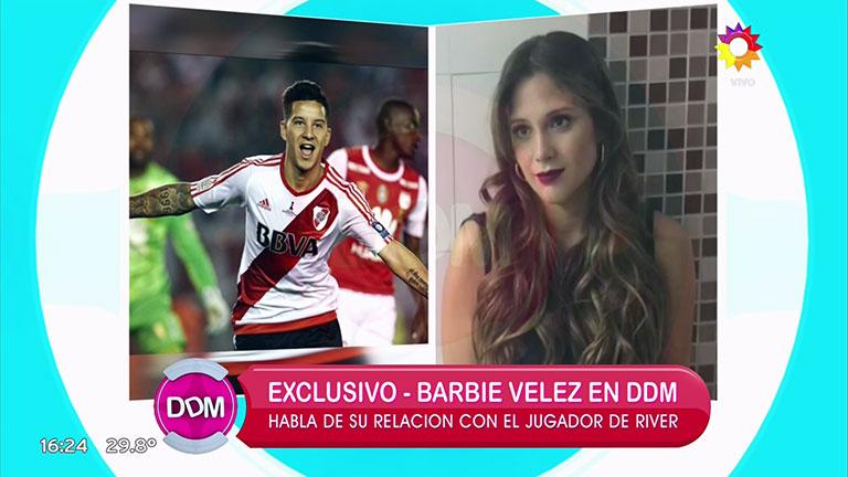 Barbie Vélez negó su affaire con Sebastián Driussi