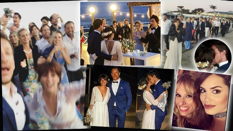 La boda en la playa de Nico Vázquez y Gimena Accardi: besos, amigos famosos y el motivo por el que decidieron no usar anillos