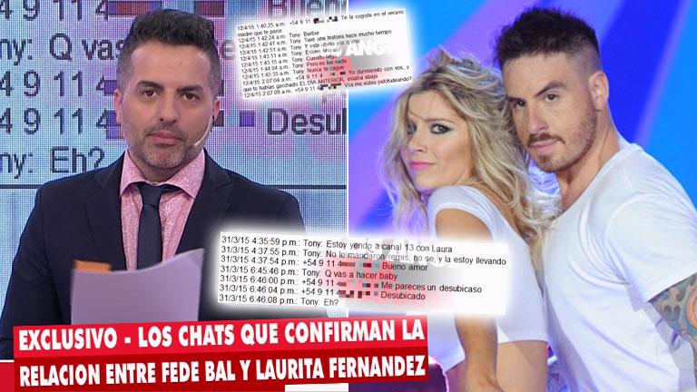 ¡Bomba! Ángel de Brito mostró chats que confirmarían un viejo romance entre Fede Bal y Laurita Fernández