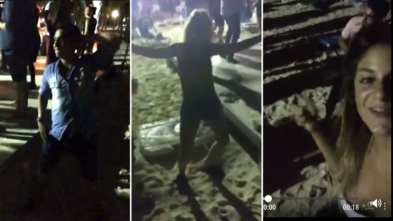 El video del grupo de amigos de Santiago Vázquez, bailando en la playa horas antes de su muerte